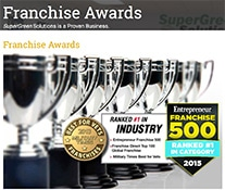 Supergreen Solutions Franchise 500 award 2015