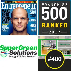 Supergreen Solutions Franchise 500 ranking 2017