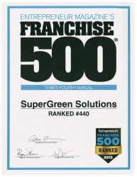 SuperGreen Solutions Franchise 500 Ranking 2013