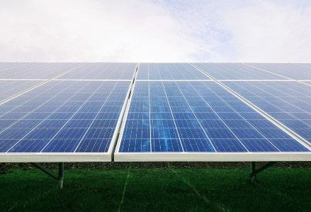 image of solar panel array