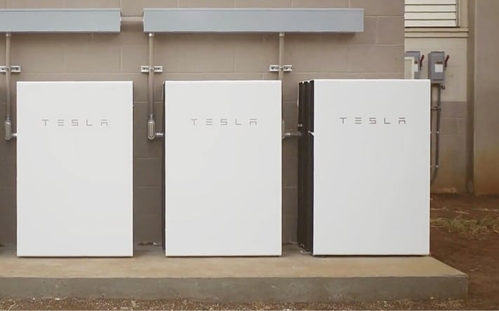 Image of a commercial Tesla Powerwall installation powering a local Townsville small business